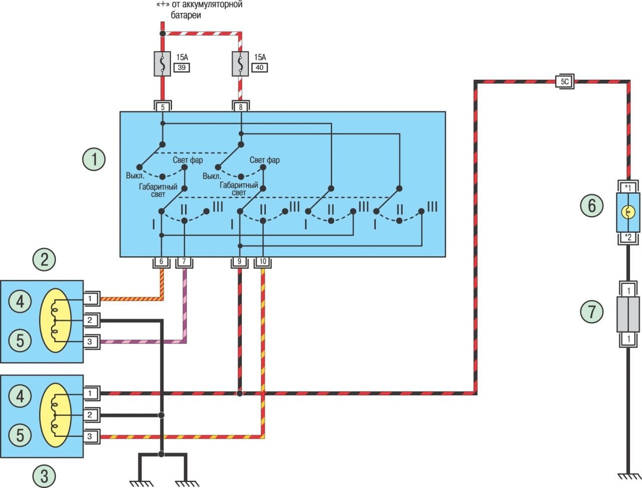 схема автоматического управления фарами
